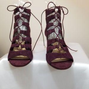 Sam Edelman / Suede Lace Up Ankle Sandals